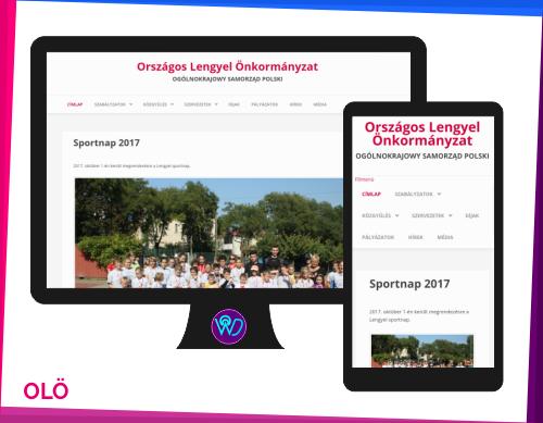 weboldal készítés referencia - Országos Lengyel Önkormányzat