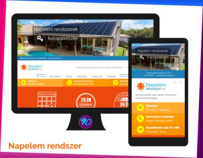 weboldal készítés referencia - Napelem rendszer