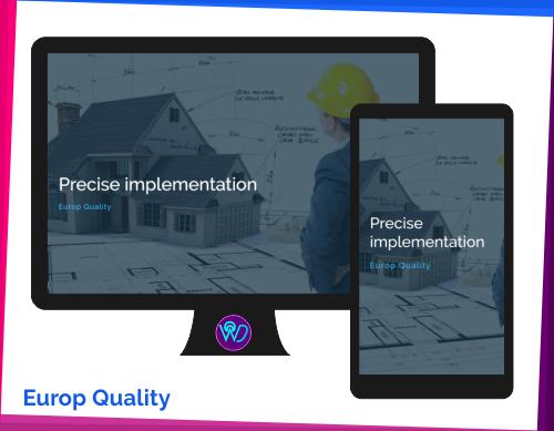 weboldal készítés referencia - Europ Quality