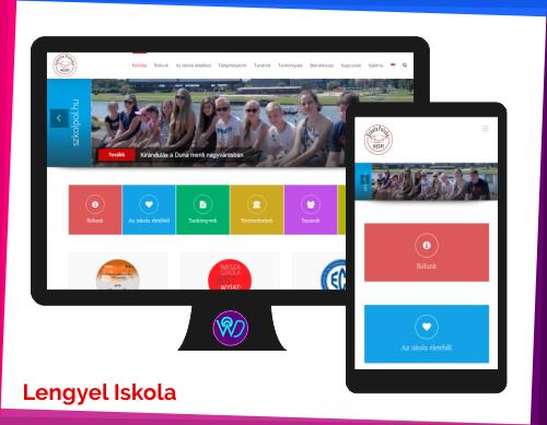 weboldal készítés referencia - Lengyel iskola