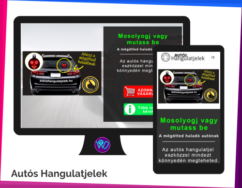 weboldal készítés referencia - Autós Hangulatjelek
