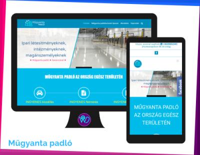 weboldal készítés - referencia - Műgyanta padló